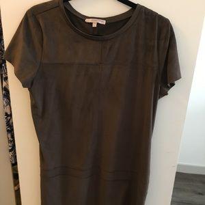 Lavender Brown T-shirt dress
